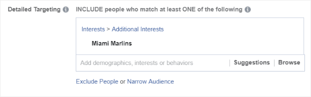 facebook ads custom audience interests