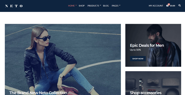 neto theme for woocommerce stores