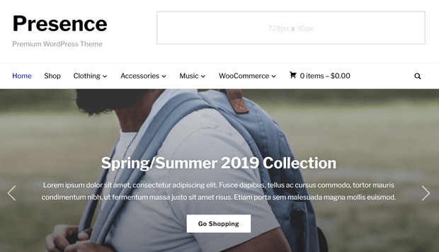 presence best woocommerce themes for ecommerce