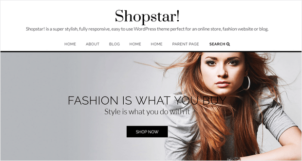 shopstar free wordpress theme