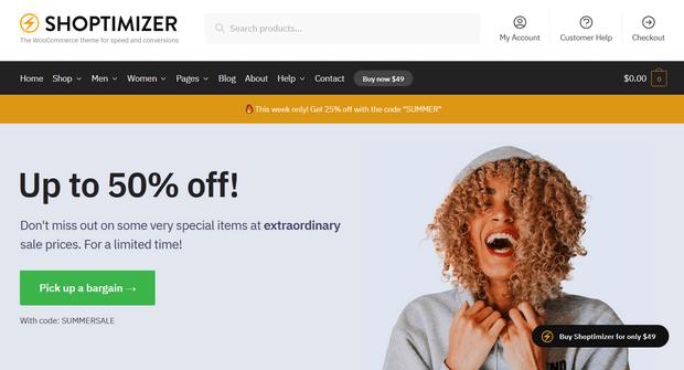 shoptimizer wordpress theme for woocommerce