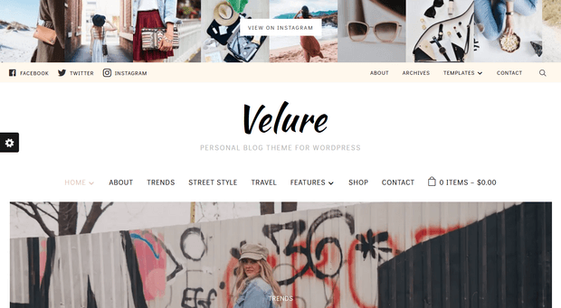 velure wordpress theme for ecommerce