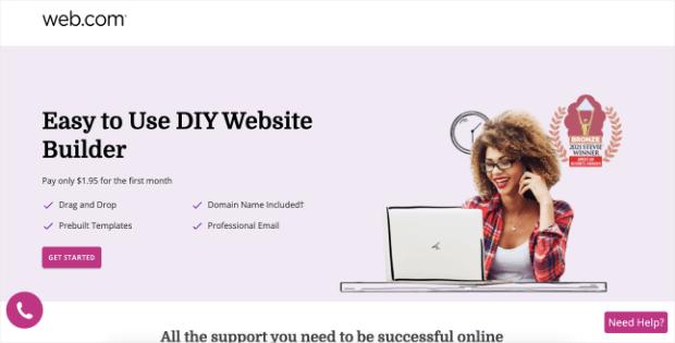 web com homepage