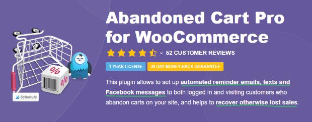 abandoned cart pro for woocommerce