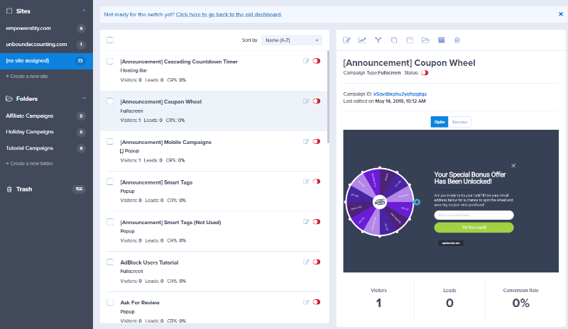 campaign dashboard overview