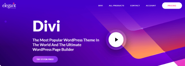 divi page builder for wordpress