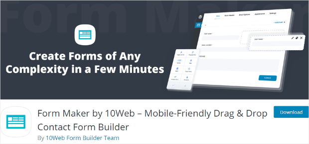 form maker by 10web online survey tools