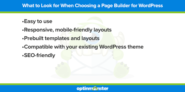 what to look for in a page builder