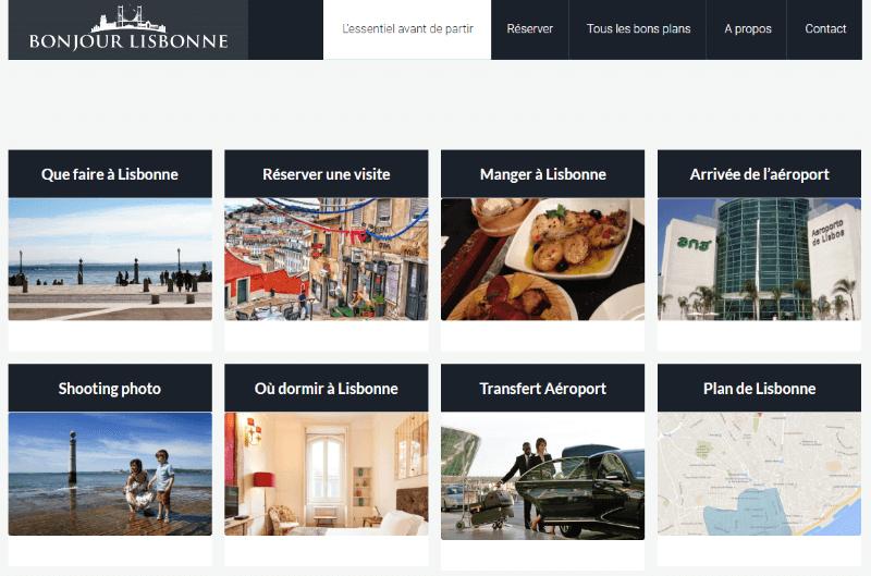 bonjour lisbonne homepage