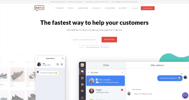 livechat is our pick for the best live chat plugin