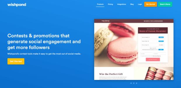 wishpond online giveaway tool homepage