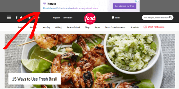 how display ads show up on websites