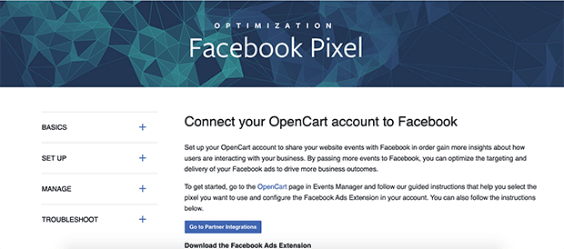 facebook ads extension app or bigcommerce