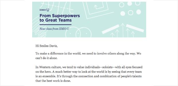 idea u email example