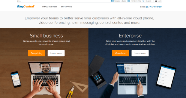 ringcentral business phone systems