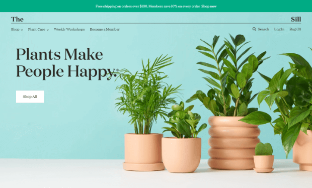 an example of clean and simple site design from the sill