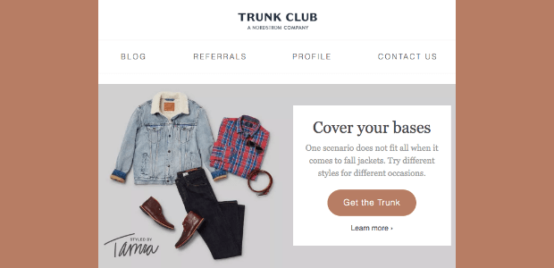 trunk club email example
