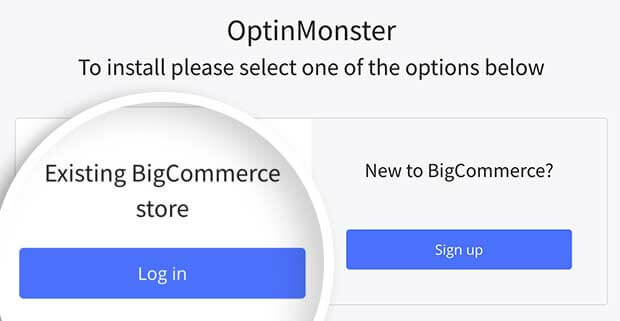 Log into BigCommerce