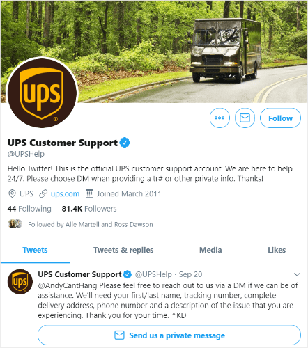 use twitter to provide customer service