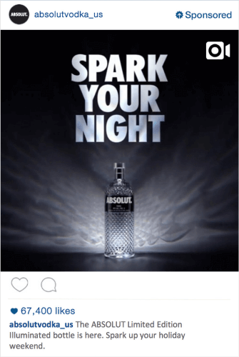 absolut instagram ad