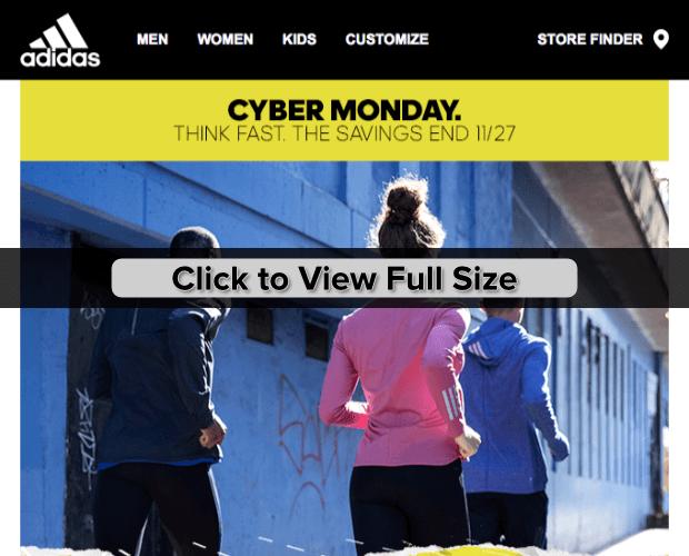 adidas cyber monday marketing