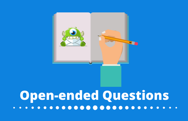 open-ended questions let users reply in their own words