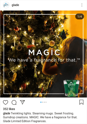 glade holiday ad