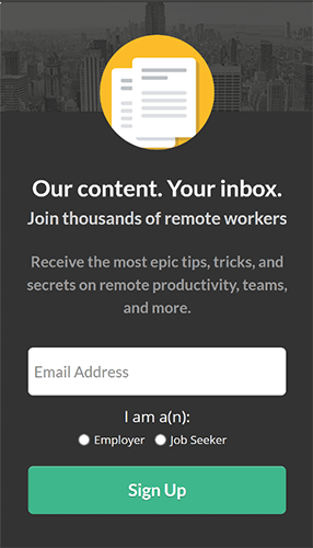 remote job sidebar widget example