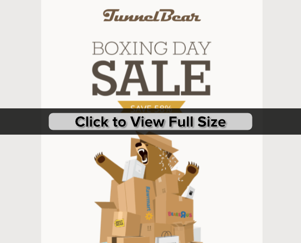 tunnelbear boxing day email
