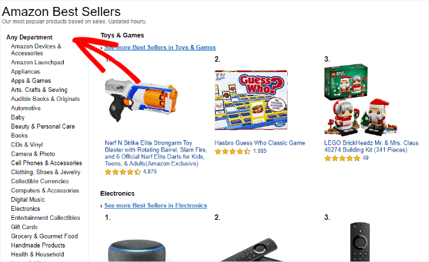 amazon best sellers home page