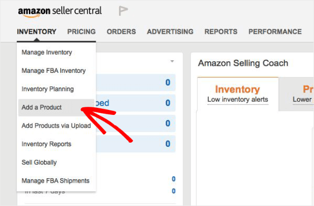 create amazon seller product listing