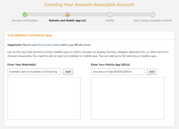 amazon affiliate program website information