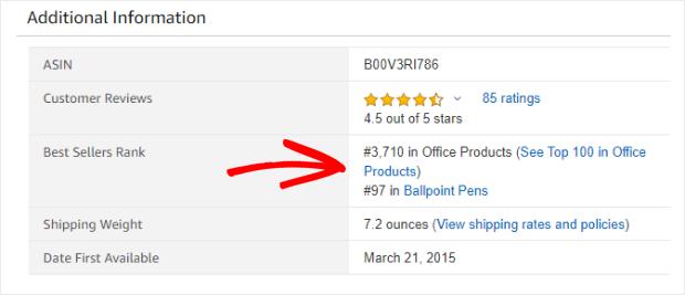 amazon best sellers ranking