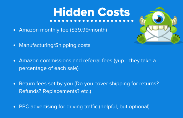 amazon seller central hidden costs