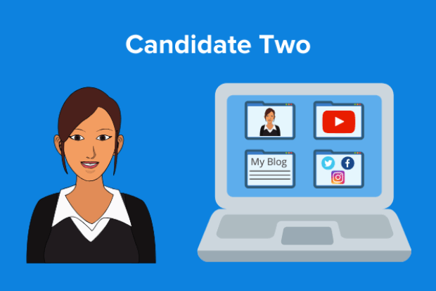 candidate two with personal branding