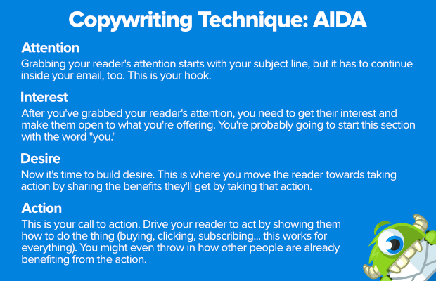 copywriting technique aida