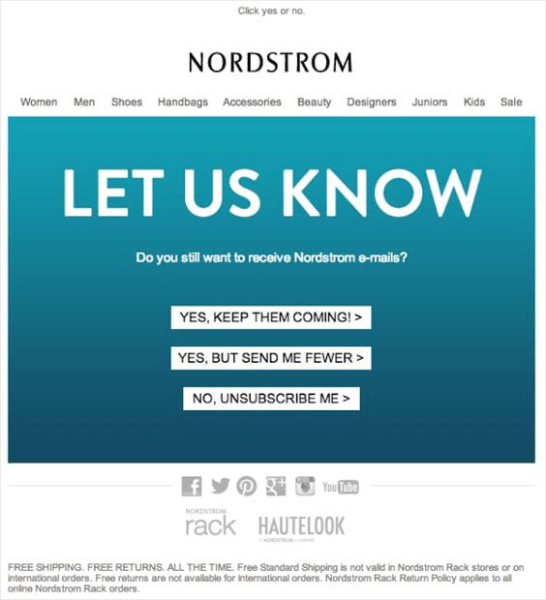 nordstrom re-engagement example