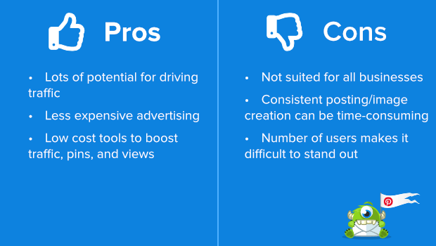 pinterest pros and cons