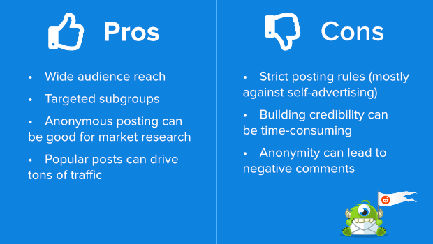 reddit pros and cons