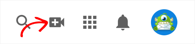 youtube camera icon