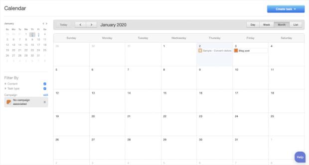hubspot editorial calendar homepage