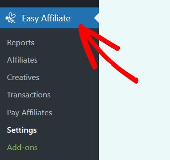 easy affiliate menu wordpress