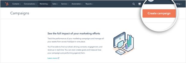 hubspot create campaign