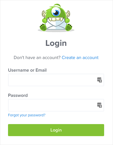 log in to your optinmonster account
