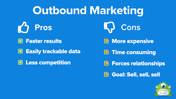 outbound marketing pros and cons