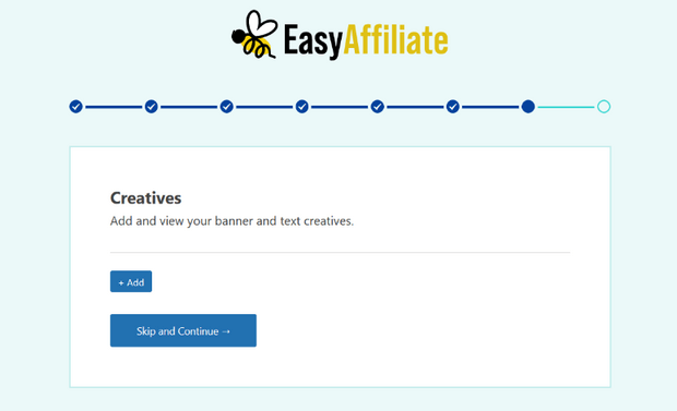 add creatives to your affiliate program