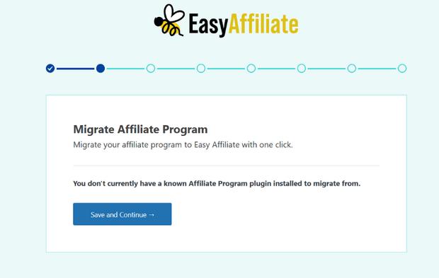 migrate existing affiliate program