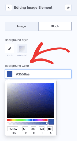 Change background in OptinMonster Editor