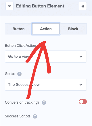 Click the ACTION button