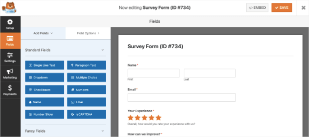 Create Your Survey Form